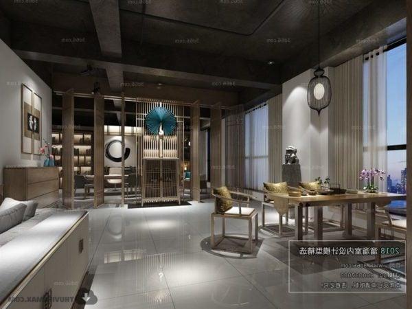 Apartment Living Room Space Interior Scene