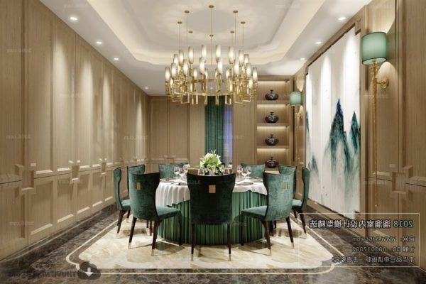 Ylellinen antiikkinen ruokasali