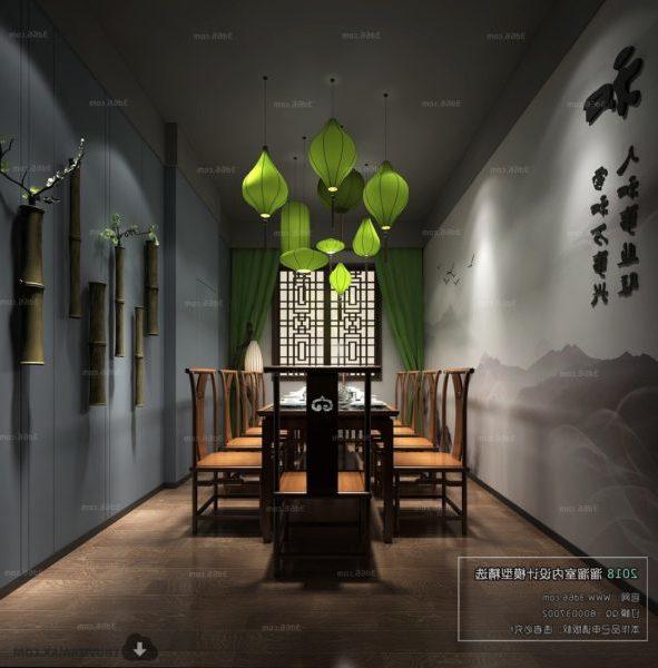 Kiinan yksityisen ruokasalin sisustus