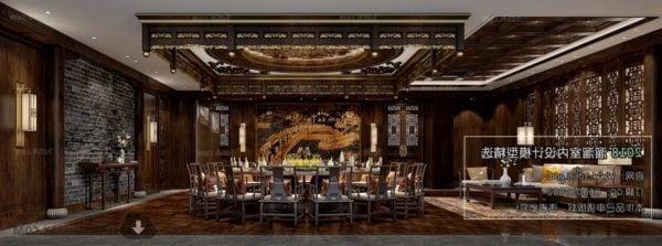 Antiikki kiinalainen ruokasali sisätiloissa