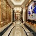 New Hotel Corridor Modern Design Interior Scene