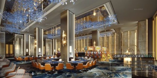 Luxury Assembly Halls Interior Scene