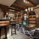 American Style Wine Room Interior Scene