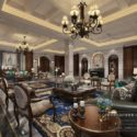American Style 19th Century Conference Room Interior Scene