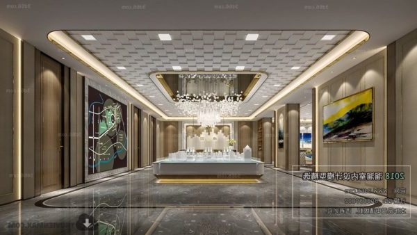 Modern Decoration Of Real Estate Showcase Interior Scene