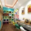 Kindergarten Study Corner Interior Scene