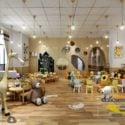 Modern Design Kindergarten Interior Scene