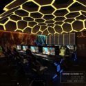 Interieurstijl in donkere stijl Entertainment Gaming Room