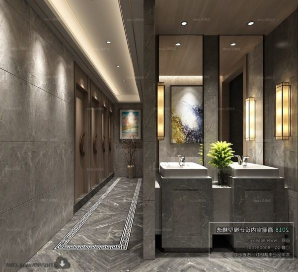 Hotel Toilet Design Interior Scene
