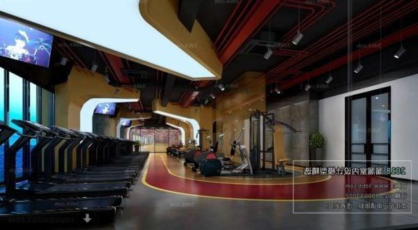 Fitness Studio Interior Scene