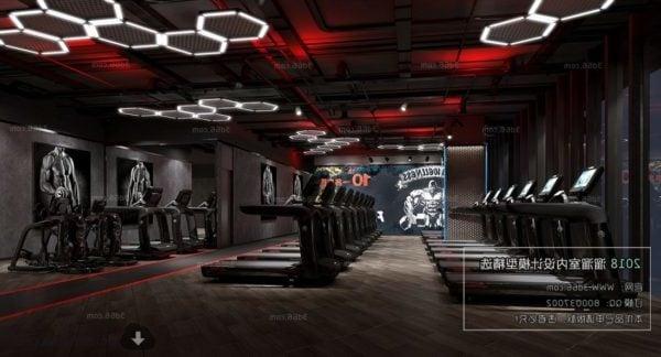 Modern Design Gym Club Interior Scene