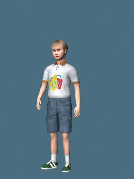 Teenage Boy Rigged Character