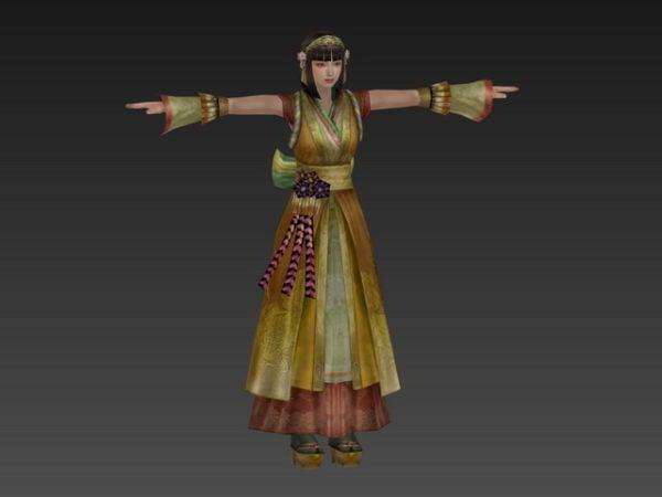 شخصية فتاة صينية قديمة