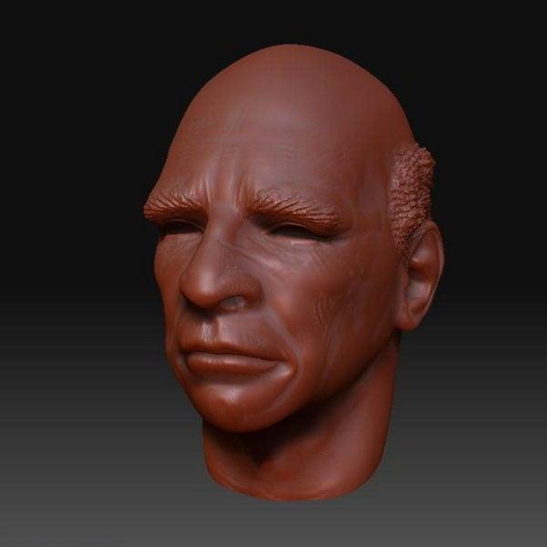 Old Man Head Sculpt Mesh