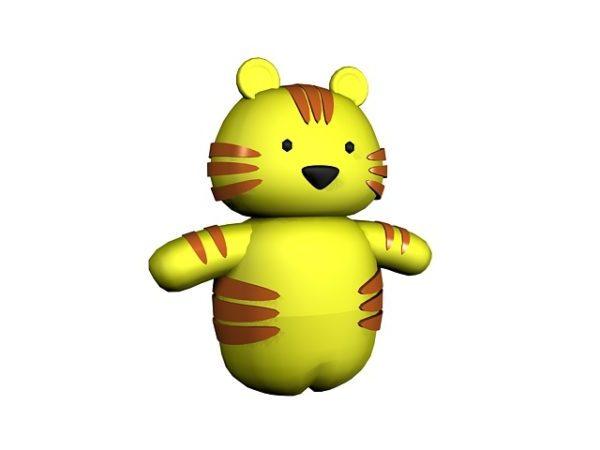 Juguete tigre de dibujos animados