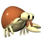 Dessin animé jouet ermite crabe