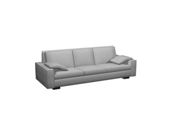 3 Seater Cloth Cushion Couch