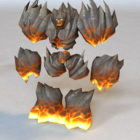 Abyssal Flamebringer Animated & Rigged