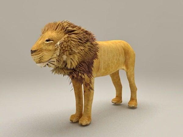 Animal león africano