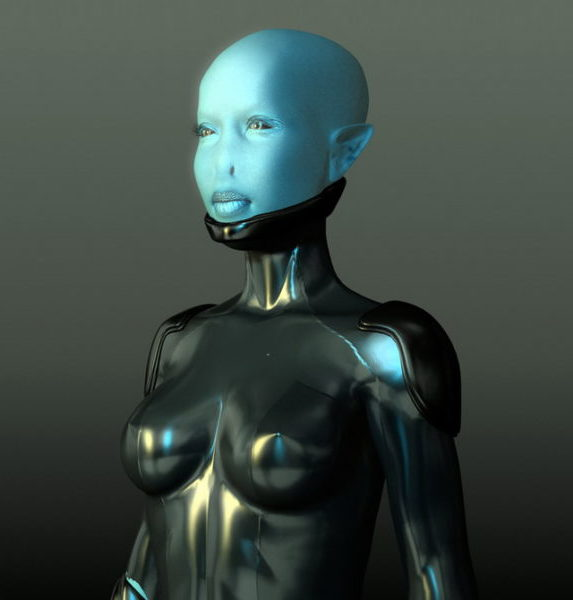 Alien Girl Rigged Character