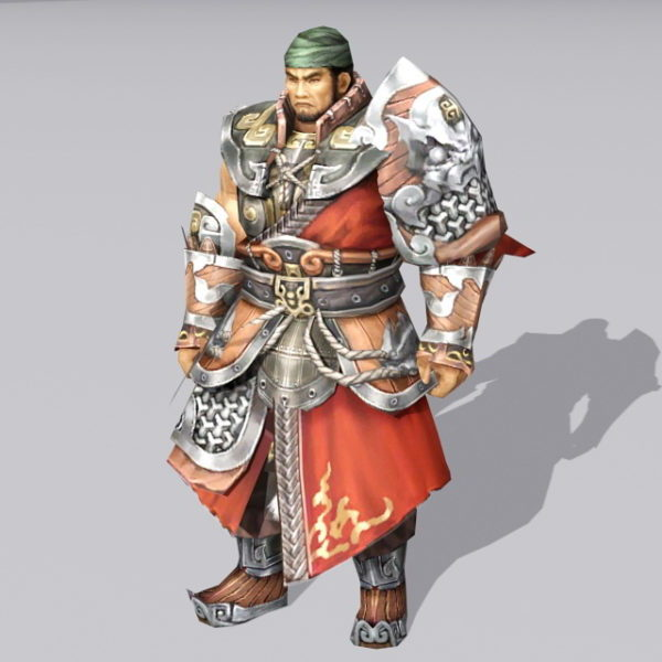 Antiguo guerrero de china