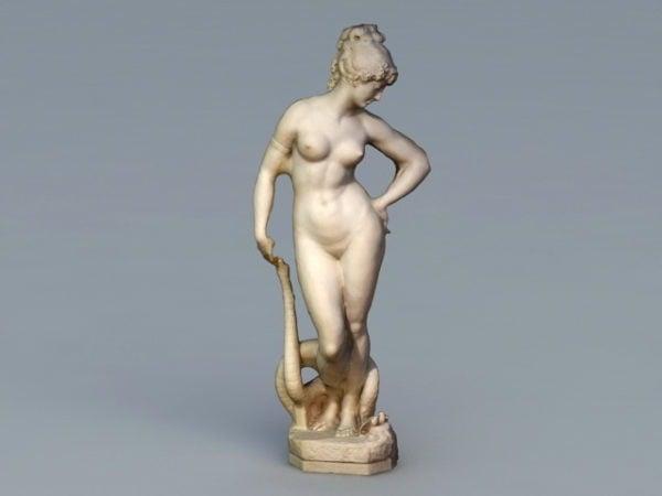 Ancient Greek Woman Statue