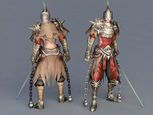 Guerrero antiguo con espada