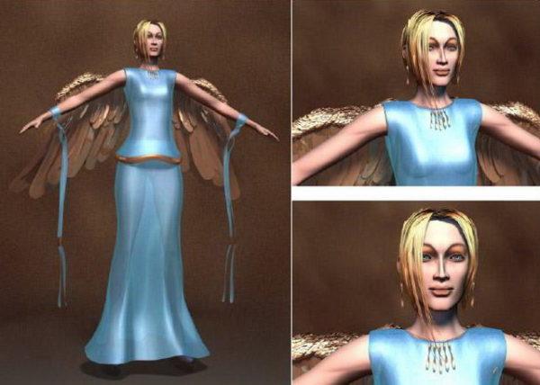 Carácter de mujer ángel