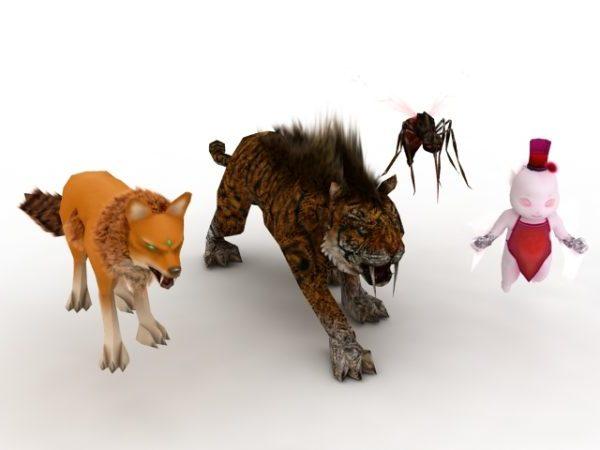 شخصية الحيوانات والوحوش