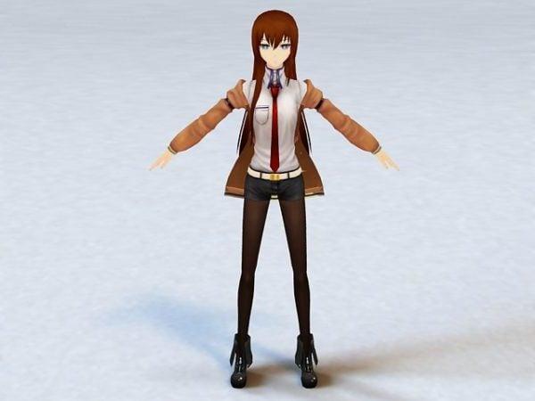 Animated Anime Dancing Girl Rigged