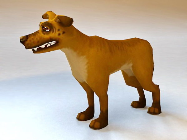 Animated Cartoon Dog Rigged