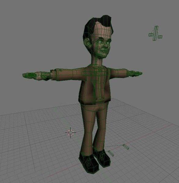Personaje de dibujos animados de Tom Hanks