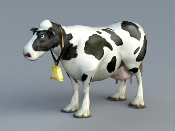 Animal Animated Cow Rig