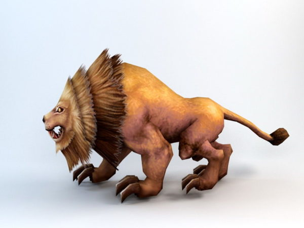 Animated Lion Rig