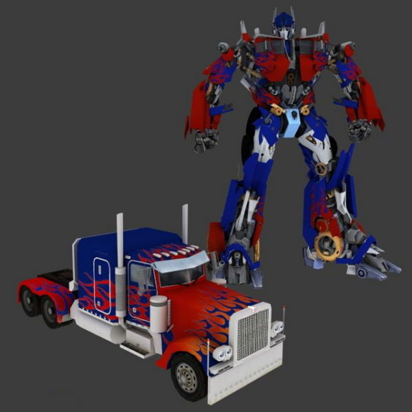 Optimus Prime animado Rigged