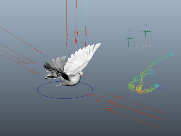 Plataforma animada de palomas
