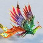 Animated Rainbow Phoenix