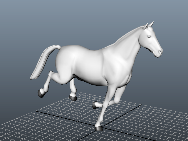 Animated Running Horse