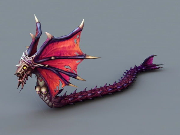 Animated Winged Serpent Character