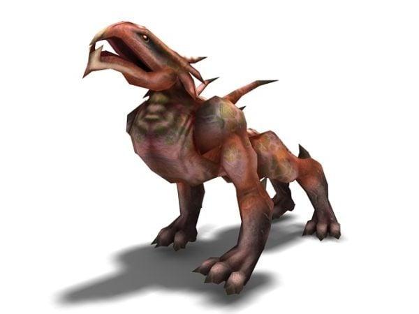 Animoitu Hellhound-hirviö