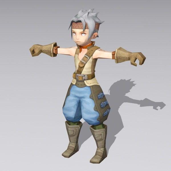Anime Boy Warrior Rigged