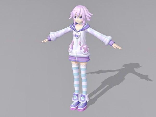 Anime Girl With Pink Hair