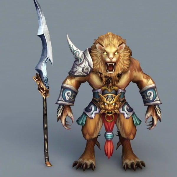 Anime Lion Warrior
