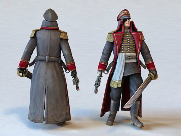 Anime Pirate Man Character
