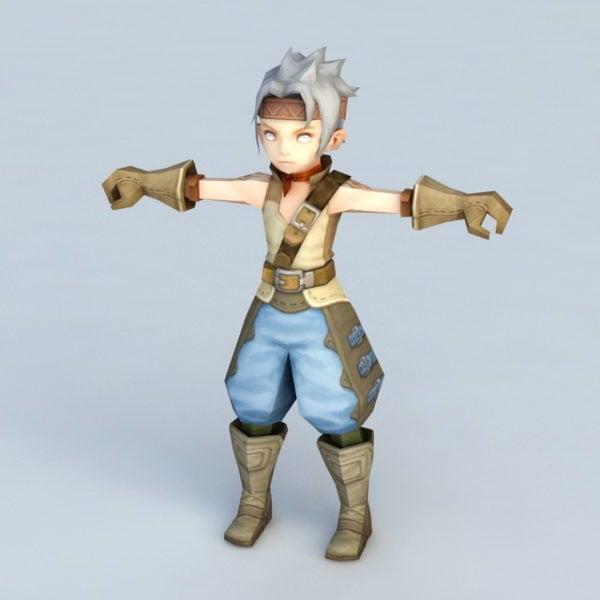 Anime Warrior Boy Chibi