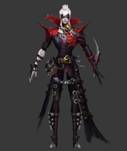 Anime Dark Warrior Character