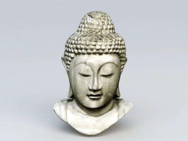 Cabeza de Buda de piedra antigua