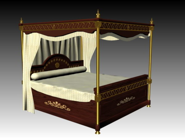 Antique Four Poster Bed Free Model