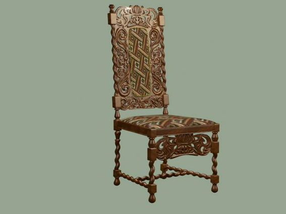 Antique Hand Carved Chair