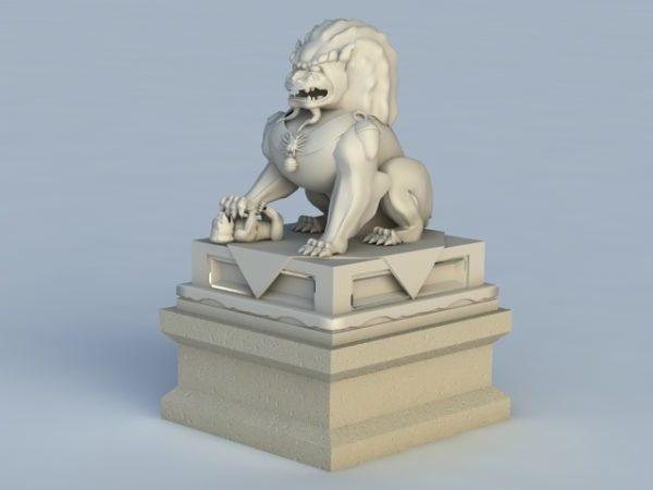 تمثال أسد آسيوي